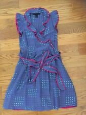$398 MARC by MARC JACOBS silk polka dots ruffle dress size 2, XS