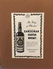 Vintage Advertisement mounted  to frame Scotch Whisky Sandeman 1955