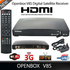 OPENBOX V8S Full HD 1080P Satellite Receiver Freesat PVR TV Box UK-Plug