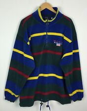 VINTAGE RETRO 90S BRIGHT BOLD FLEECE SWEATER SWEATSHIRT SPORTS JUMPER UK L