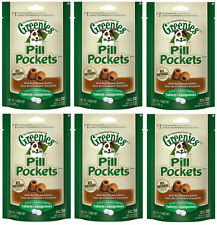 GREENIES PEANUT BUTTER DOG PILL POCKETS FOR TABLETS (6 x 3.2oz)