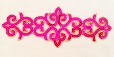 pink Sequin embroidery patch lace applique motif dress irish dance costume