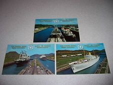 1914-1964 PANAMA CANAL GOLDEN ANNIVERSARY POSTCARD LOT - SHIPS