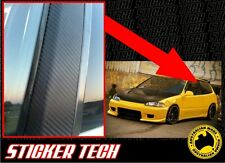 3M DI NOC CARBON FIBRE B PILLAR OVERLAY STICKER DECAL TO SUIT MUGEN HONDA EG EK
