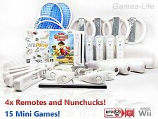 WII Nintendo Console 4 Player Bundle PLUS Sports Pack RUOTE 4 TELECOMANDI 31 GIOCHI