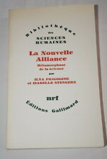 LA NOUVELLE ALLIANCE METAMORPHOSE DE LA SCIENCE PRIGOGINE STENGERS 1983