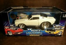 MUSCLE MACHINES 1/18 scale Diecast '66 Mustang GT350 Too Hot White & Blue