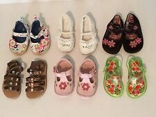 Lot Of 6 Pairs Toddler Girl Shoes~Size 4~ Dressy, Sandals, Leather Everyday