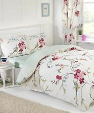 BIRD BRANCH FLOWER POLKA DOT DOUBLE DUVET COVER SHEET CURTAINS ROOM IN BAG