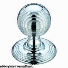 Fulton & Bray Solid Ringed Mortice Door Knobs Polished Chrome FB306CP