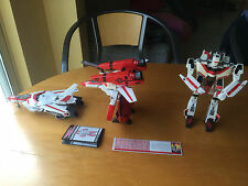 LOT OF 3 ORIGINAL 1985 JETFIRE WITH 1 COMPLETE ARMOR MADE IN JAPAN BY BANDIA