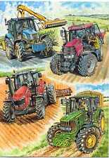 "Country Cards John Deere Renault Case 160 ""Modern Tractors"" Birthday/greet card"
