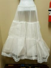 Vintage Crinoline Underskirt Petticoat Tulle Wedding Bridal Formal Long Slip
