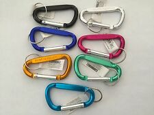 "New 12pc 2 3/4"" Aluminum Carabiner  D-Ring Key Chain Clip Hook - Asstored Color"