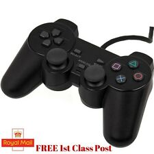 Ps2 Dual Shock Wired Analog Controller Joypad Gamepad for PS2 PlayStation2 Black