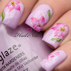Nail Art Wraps Water Transfers Decals Y105 Pink Flowers Orchid Salon Quality