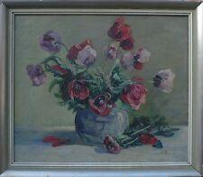 GERMAN ARTIST -ART DÉCO -STILLLEBEN -MOHNBLUMEN -FLOWERS -ÖLGEMÄLDE -EXPRESSIV