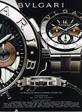 PUBLICITE ADVERTISING 025 2008 DIAGONO collection montre BVULGARI         250515