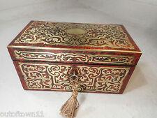 Antiguo Boulle Tea Caddy Caja de 2303