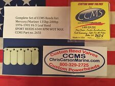 CCMS Mercury/Mariner Sport Outboard Reed 135hp-200hp 1976-1995 V6 5 Leaf PN.265S