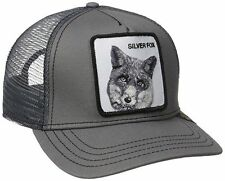 New Collection 2017 Goorin Bros Farm GRAY SILVER FOX Mens Trucker Hat.