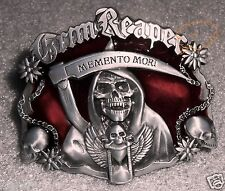 "SONS OF ANARCHY  GRIM REAPER   ""MEMENTO MORI""   SAMCRO  BIKER  SOA  BELT BUCKLE"