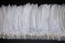 """12"""" NAGORIE FRINGE DYED - WHITE 6-8"""" Trim Feathers Hats Costume Halloween"""