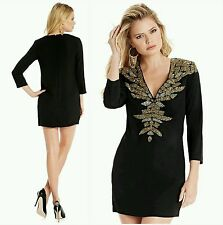 NWT GUESS by Marciano black Claudia Embellished Tunic size 4