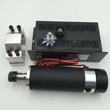 600W Air-cooled ER16 Spindle Motor DC 110V &Mach3 Power Supply & Bracket CNC Kit