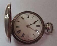 RARE SILVER FULL HUNTER VERGE FUSEE WATCH WORKING WITH KEY WELL PRICED!!!!