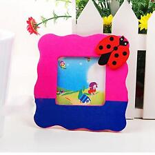 Wooden Photo Picture Frame For Ornaments Home Room Child Cartoon Pattern Gift
