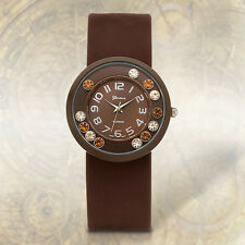 Geneva Platinum Lucent Snap Women's Watch BROWN, Casual, Modern (2000-present)