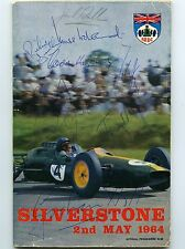 Giancarlo Baghetti,Ireland,Bonnier,Graham Hill Silverstone 1964 signed programme