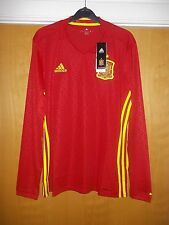 Adidas Long Sleeve Official Spain Football Jersey/Top