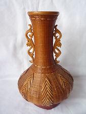 Bambú de Madera tallada China Antigua Jarrón de punto