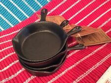"Set/4 Small 4"" Single Serving Cast Iron Skillet/Pan Casseroles Cookies Brownies"