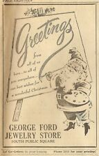 VINTAGE AD THE GLASGOW REPUBLICAN (KY) DECEMBER 23, 1954 - GEORGE FORD JEWELRY