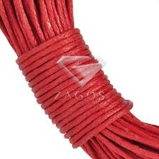 15 Colour 20m Waxed Cotton Cord Thong Wire String Necklace Jewelry DIY 1mm