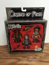 Cinema of Fear Triple Action Figure Set ~ Freddy Krueger Voorhees Texas Chainsaw