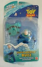 VINTAGE DISNEY TOY STORY BUZZ LIGHTYEAR AQUA ACTION SUPER SQUIRTIN' BUZZ NIP