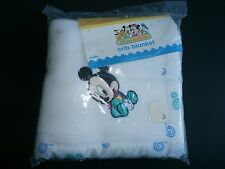 Dundee Blanket Blanket Baby Mickey Mouse Disney Vintage Acrylic NOS New 36 X 45