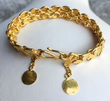 PURE 99.99 SOLID 24K yellow gold Bracelet 14.63g size 6inches3/4.