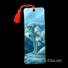 *PROTECTOR* Fantasy Wolf Maiden Art 3D Bookmark By Anne Stokes (15.5x5.5cm)