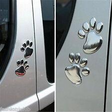 3D Bear Paw Print Dog Footprint Car Window Door Bumper Sticker Past Decal Decor