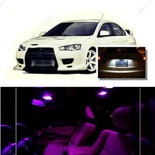 For Mitsubishi Lancer 08-15 Pink LED Interior Kit +Xenon White License Light LED