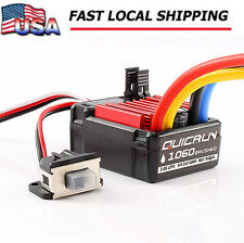 Hobbywing QuicRun 1060 60A Brushed Waterproof Motor ESC For 1/10 RC Car Model US