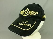 Breitling Watch Hat Cap 130th Anniversary Wings Anchor Adjustable Black