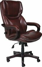 SERTA Executive CHAIR, Rich Brown Bonded Leather Big & Tall OFFICE CHAIR, 43506