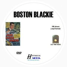 BOSTON BLACKIE - 196 Shows Old Time Radio In MP3 Format OTR On 1 DVD