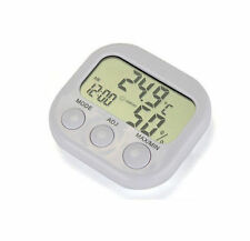 Digital LCD New Clock  Indoor Temperature Humidity Thermometer Hygrometer
